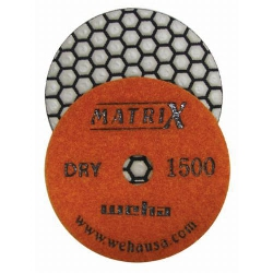 "4"" Matrix 7 Step Diamond Polishing Pads dry Set of 7, production shop granite pads part # 50413"