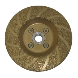 "Part # 51073 4.5"" Vac Brazed Contour Cupwheel 5/8-11 Thread Coarse"