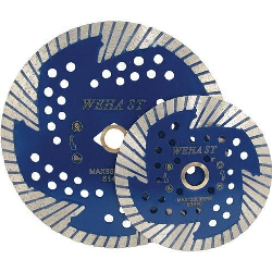 "Part#  51460 Weha 5"" ST Side Cut Quad Diamond Turbo Blade for Granite, Stone"