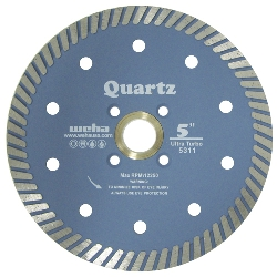 Quartzite Diamond Turbo Blade, Quartz Turbo Blade, Engineered Stone Turbo Blade Part #5311
