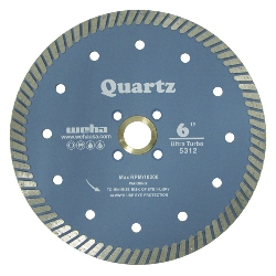 "6"" Quartzite Turbo Blade, Quartz Diamond Turbo Blade,  Engineered Stone Blade Part # 5312"