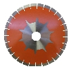 "Part#  5400300 Weha Orange Tiger 16"" x 20mm Arrix Layered Diamond Blade"