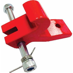 Part#  601601 Abaco Red Locking Latch Clip with Torsion Spring and Bolt