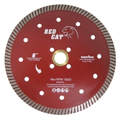 "6"" Quartz Turbo Blade, Diamond Granite Turbo Blade, 6"" Red Cat Turbo Blade #71405"