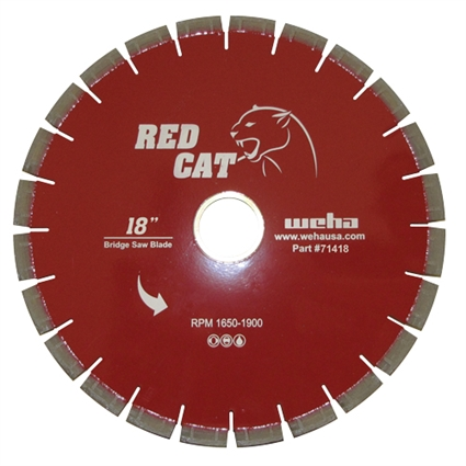 "18"" Granite Bridge Saw Blade, 18"" Quartz Bridge Saw Blade, 18"" Granite Miter Part #71418"