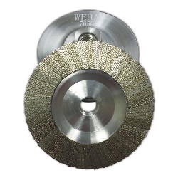 Diamond Flap Disc Cup Wheel 60 grit 4 inch Weha Part # 7650