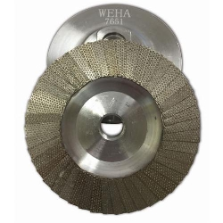Diamond Flap Disc Cup Wheel 120 grit 4 inch Weha Part # 7651