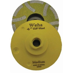 "Weha 4"" Resin Filled Diamond Cup wheel, Medium, Granite Cup Wheel Part#  7681"