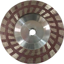 "Part#  7683 Weha 4"" turbo Resin Filled Diamond Cup Wheel-Coarse"