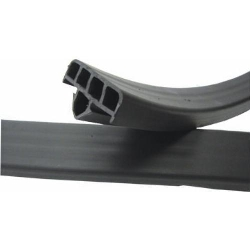 Part#  8020609FT Replacement Rubber Weha Transport Cart Rack Black