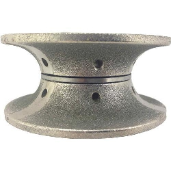 Part#  8058 Oma Pos 2 3cm  V Full Bullnose Prodiam Cont Metal Diamond