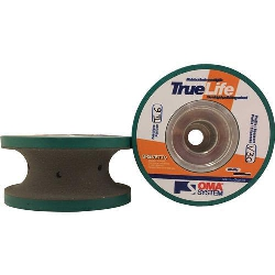 Part#  8062 Oma Pos 6 3 cm V Full Bullnose Truelife Polish Wheel
