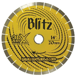 "Granite Stone Diamond Bridge Saw Blade Blitz 3DX Arix 14"" 20mm Part # 9420"