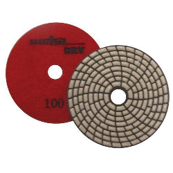 Dry Diamond Polishing Pad Spiral Brick - 100 Grit Part#  DPS4100