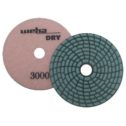 Dry Diamond Polishing Pad Spiral Brick - 3000 Grit Part#  DPS43000