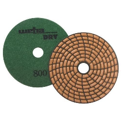 Dry Diamond Polishing Pad Spiral Brick - 800 Grit Part#  DPS4800