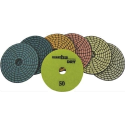 "4"" Dry Diamond Polishing Pads- Set of 7 50-3000 grit Part#  DPS4SET"
