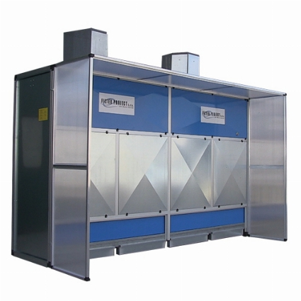 Dry Dust Collection Booth, Automatic Dry Dust Collector, Granite Dust Collector, fiberglass Dust Part # TEC715