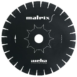 "Part#  VZ051413 14"" Weha Matrix S Diagonal Diamond Bridge Saw Blade"