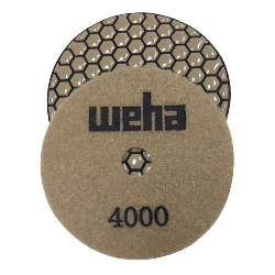 "Part # VZDP44000 4"" Weha Honeycomb Dry Diamond Polishing Pad 4000 Grit"