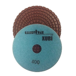 "Part#  VZP4400 Weha 4"" Xubi Polishing Pad - 400 Grit"