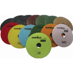 "Part#  VZP4SET Weha 4"" Diamond Xubi Polishing Pads Set of 7"
